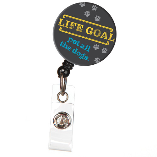 Life Goal Pet All Dogs Retractable Badge Reel ID Name Badge Holder