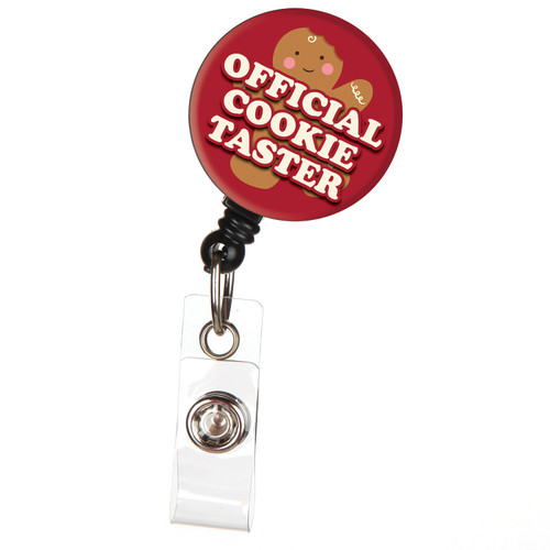 Official Holiday Cookie Tester Holiday ID Badge Reel