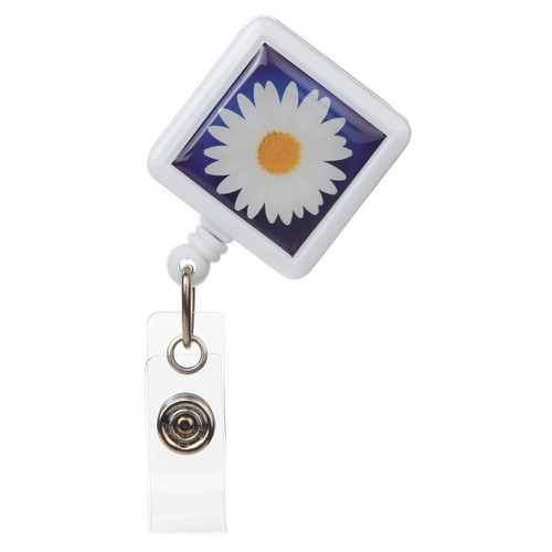 Daisy Flower Retractable Badge Reel - ID Name Badge Holder