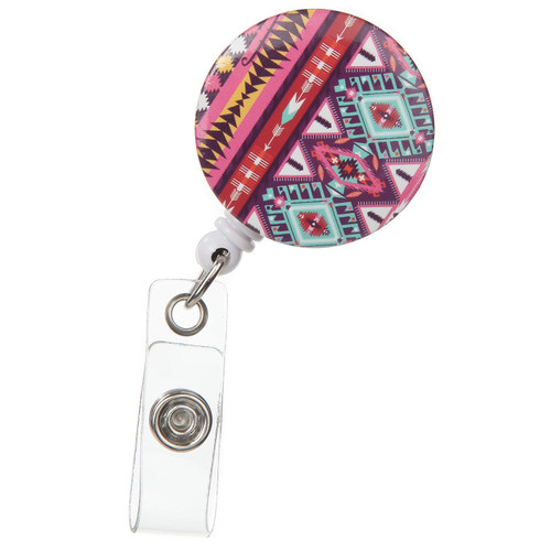 Sweetwater Retractable ID Badge Reel - Vibrant Pattern