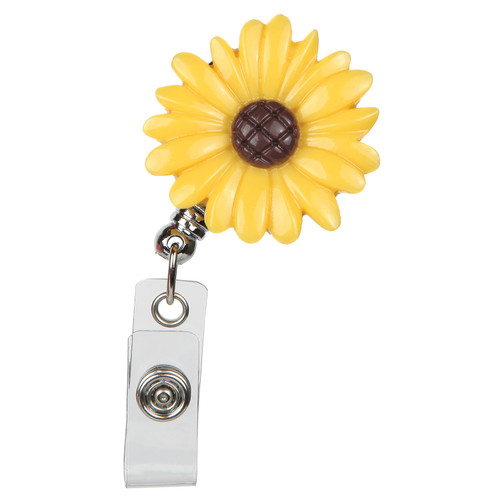 Sunflower Retractable Badge Reel