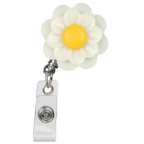 Anemone Flower Retractable Badge Reel