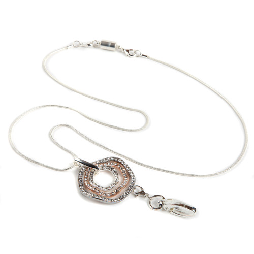 Allure Silver Chain ID Necklace Lanyard