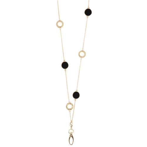 Obsidian Gold Reversible ID Necklace Lanyard