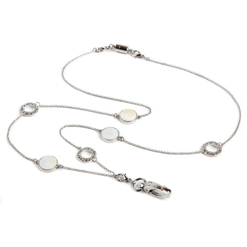 Sweet Pearl Reversible ID Necklace Lanyard