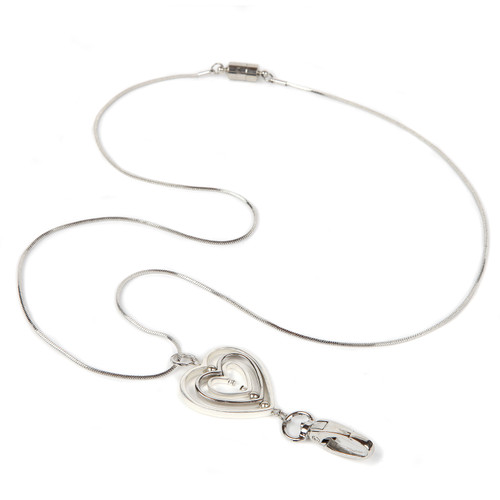 Tres Amour Silver Chain ID Necklace Lanyard