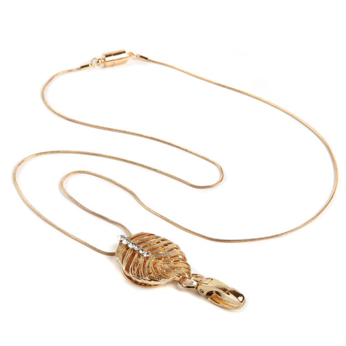 Senna Gold Leaf Chain ID Necklace Lanyard