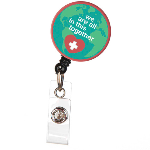 We're All in This Together Red Heart Badge Reel