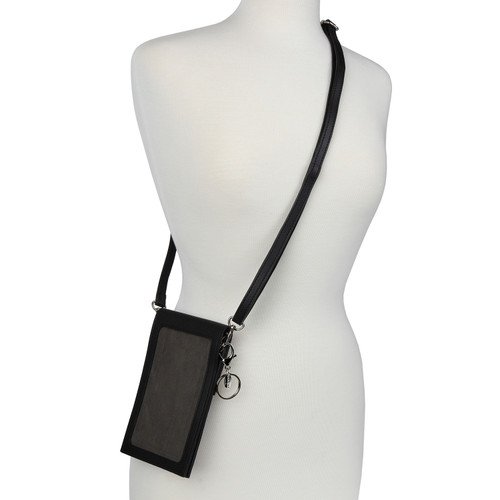 Essentials ID Phone Holder Wallet Lanyard, Cross Body Bag