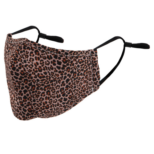 ID Avenue Leopard Print Reusable Face Mask with Filter
