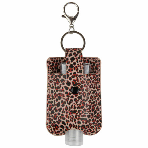 ID Avenue Leopard Print Travel Hand Sanitizer Holder with convenient hook