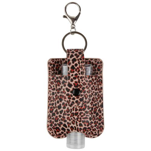 ID Avenue Leopard Print Travel Hand Sanitizer Holder with convenient hook