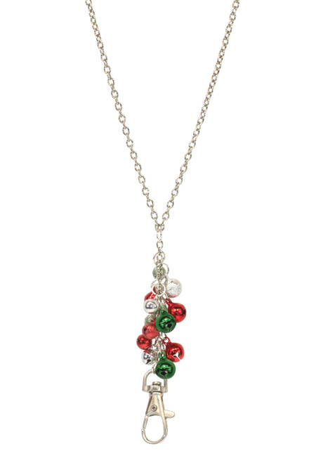 ID Avenue Jingle Bells Holiday Silver Chain ID Lanyard