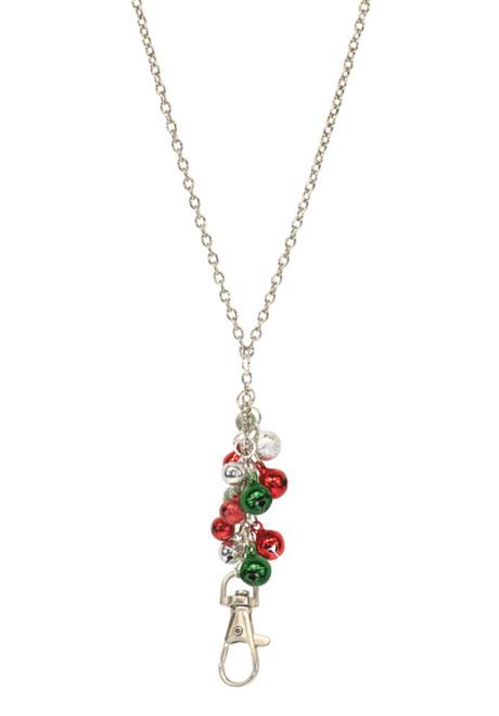 ID Avenue Jingle Bells Holiday Silver Chain ID Lanyard