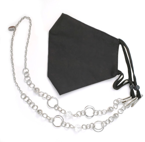 London Silver Chain Face Mask Lanyard