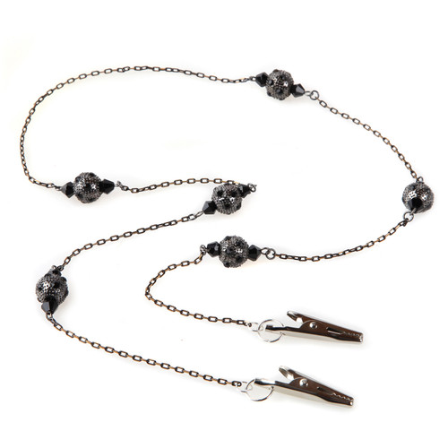 Black Briar Chain and Beaded Face Mask Lanyard