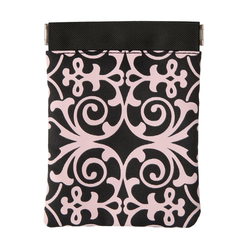 BooJee Beads Pink Scroll Squeeze Frame Pouch
