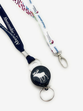 Custom printed lanyards and badge reels from BooJee Beads