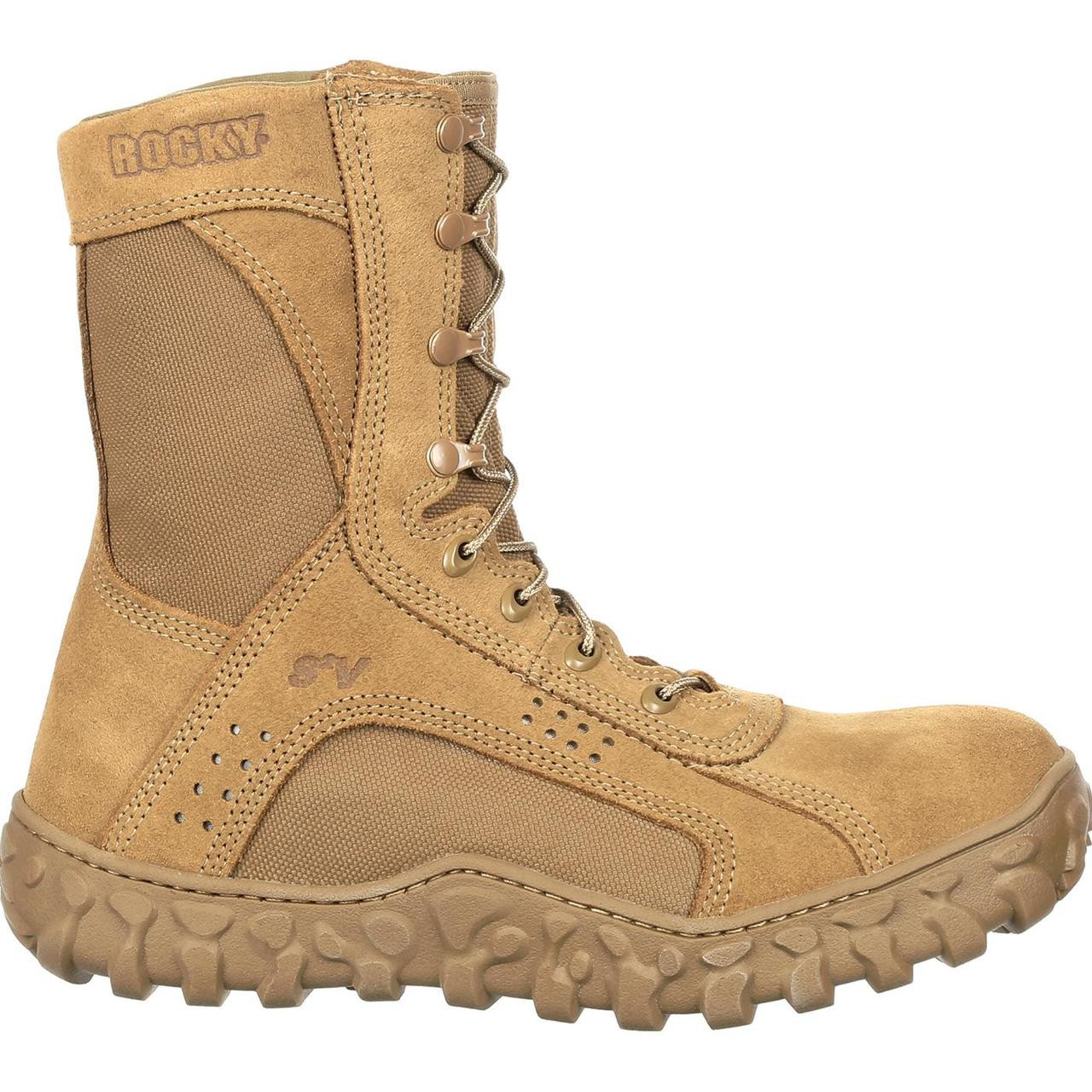 Buty Wojskowe Rocky S2v Composite Toe Coyote Brown Usa Made