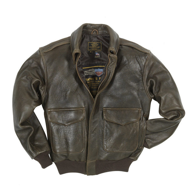 "Cockpit USA ""100 Mission"" A-2 Pilot's Jacket Brown USA Made"