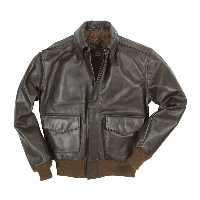 Cockpit USA WWII Government Issue A-2 Jacket Brown USA Made