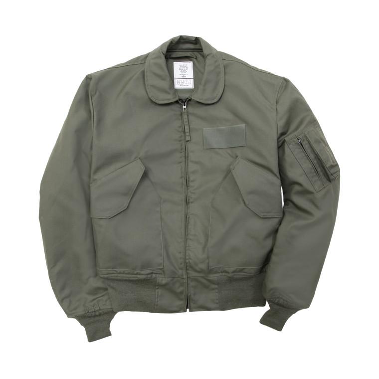 Alpha Industries CWU 36/P Nomex Mil Spec Flight Jacket Sage Green USA Made
