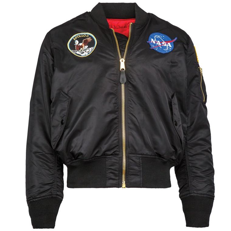 Alpha Industries Apollo Ma-1 Flight Jacket Black