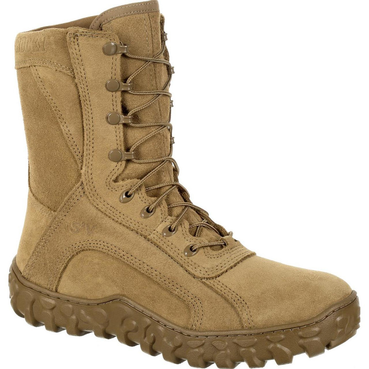 Rocky S2V All Leather Military Boot Coyote Brown USA Made
