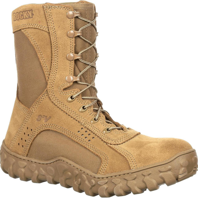 Rocky S2V Composite Toe Military Boot Coyote Brown USA Made