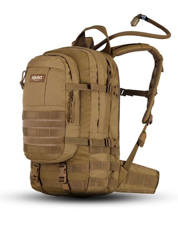 Source Hydration Assault Pack Hydration Cargo 20 Liter Coyote Brown