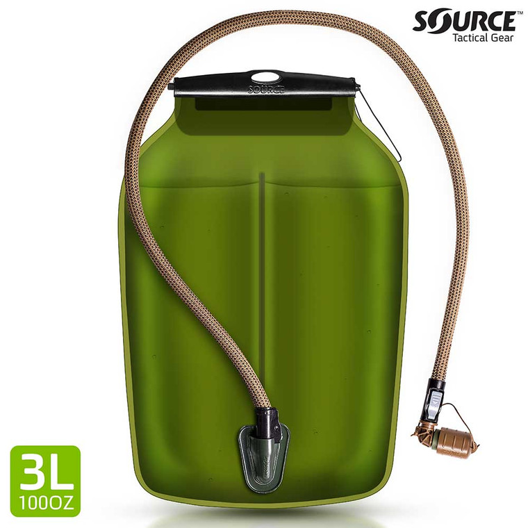 Source Hydration WLPS 3L Low Profile Bladder Coyote Brown Tube