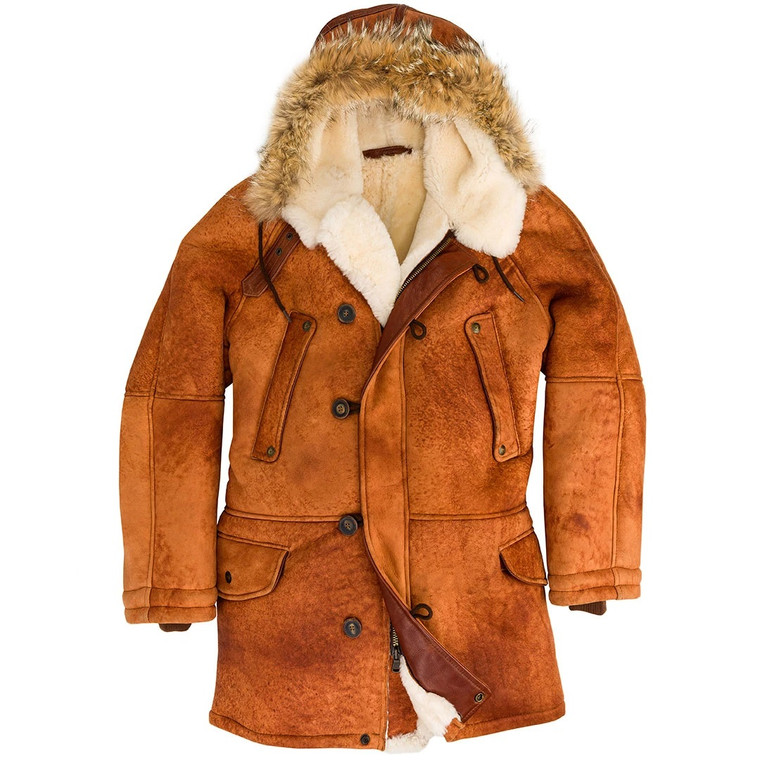Cockpit USA N3B Sheepskin Parka Russet USA Made