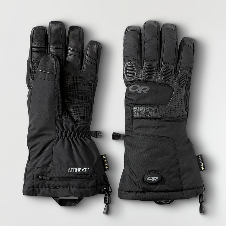 Outdoor Research Lucent Heated Sensor Gloves Black