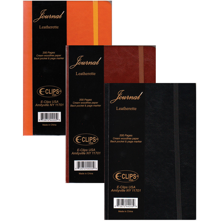 """Journal, leatherette, 4x6"""", 100 sheets, assorted colors, in display"""