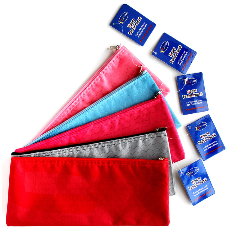 Zipper pencil pouch, assorted colors