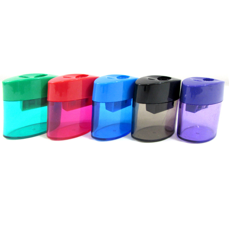 Pencil and crayon sharpeners dome, assorted colors. single