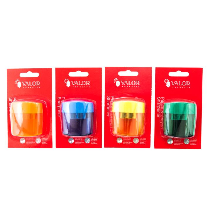Valor Products 2 Holes Pencil & Crayon Sharpener