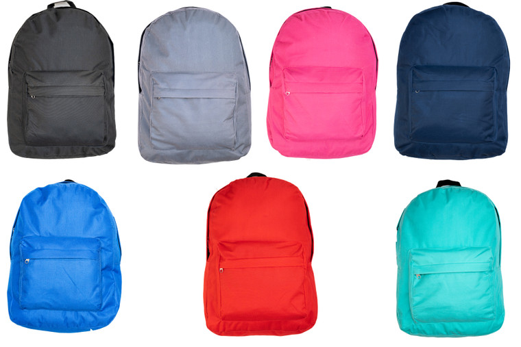 Valor Products Basic 17 Inch School Backpacks with Padded Straps