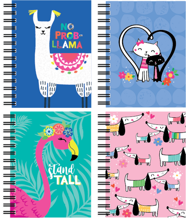 Fat Book - Happy Animals - 150 Sheets - Front & Back Covers