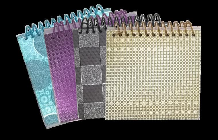 "Memo Book - 4.25 X 4.5"" - 120 Sheets - Glitter - Top Spiral"