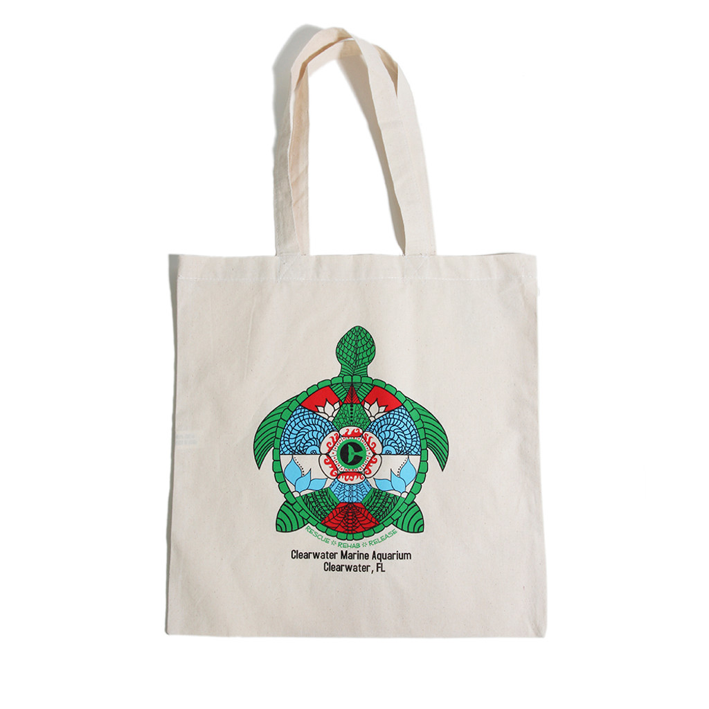Tribal Turtle Ozzy Tote Bag