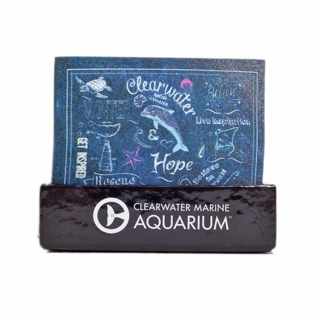 Clearwater Marine Aquarium Inspirational Chalk Print Note Cube