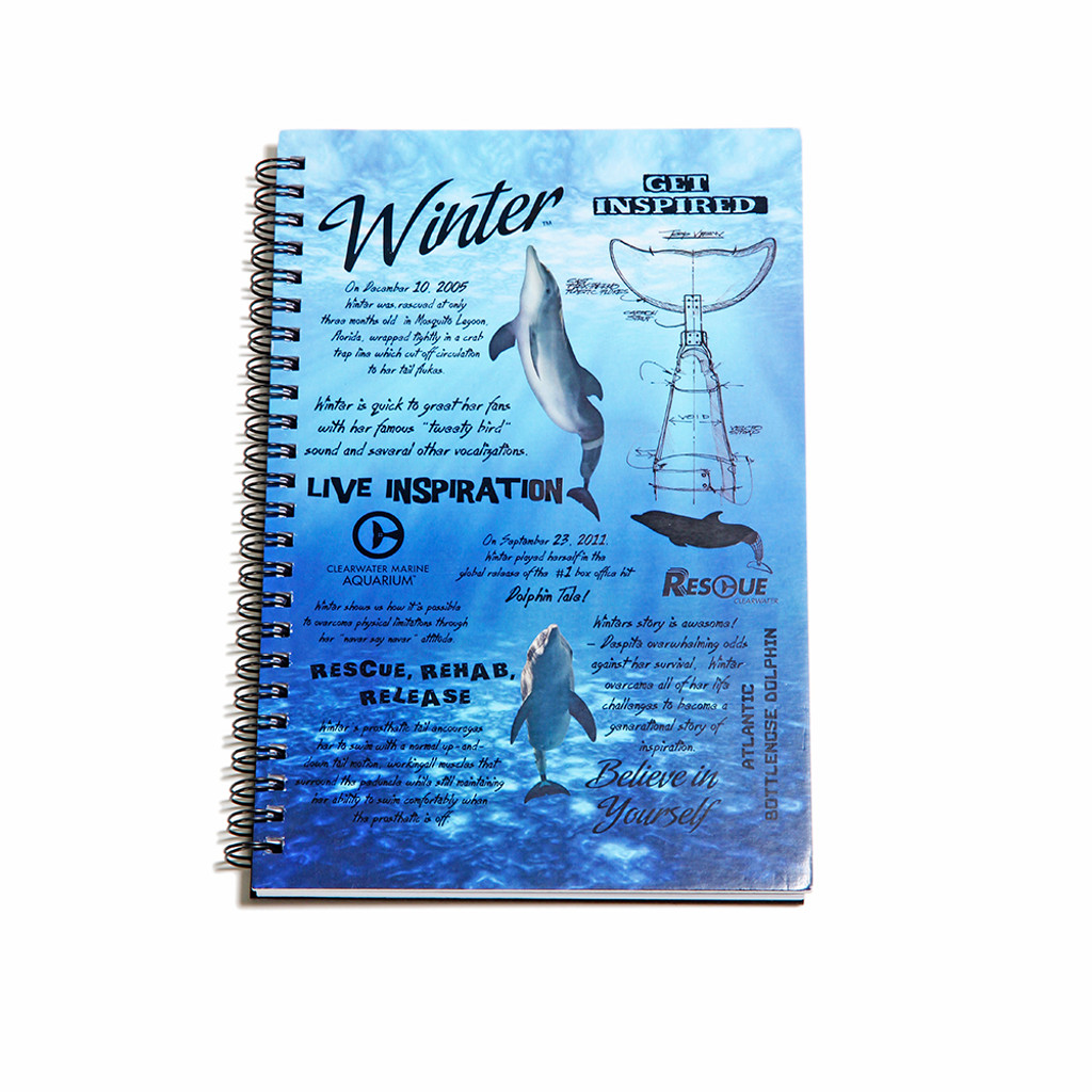 Winter Dolphin Facts Spiral Notebook