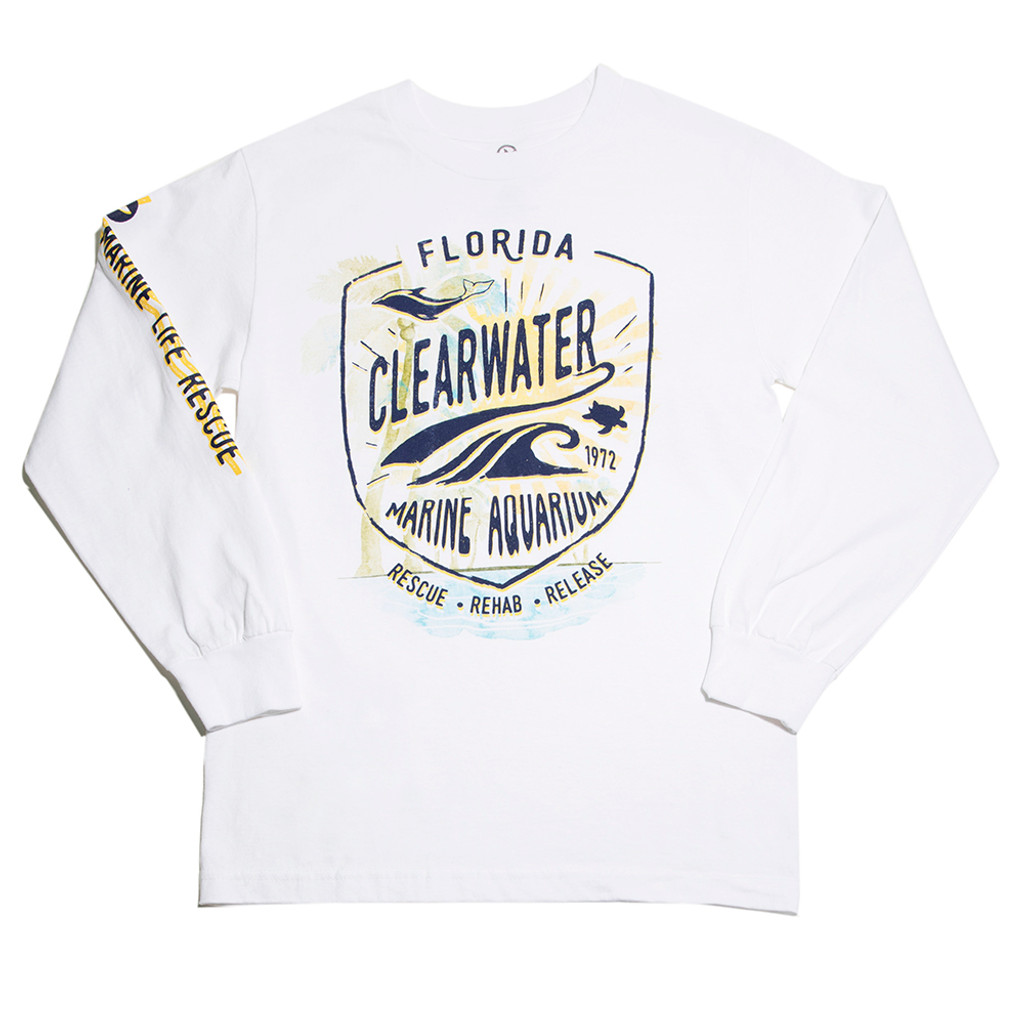 Clearwater Marine Aquarium Spring Men's Long Sleeve Tee