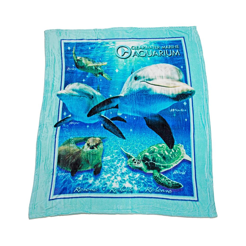 Clearwater Marine Aquarium Fleece Blanket