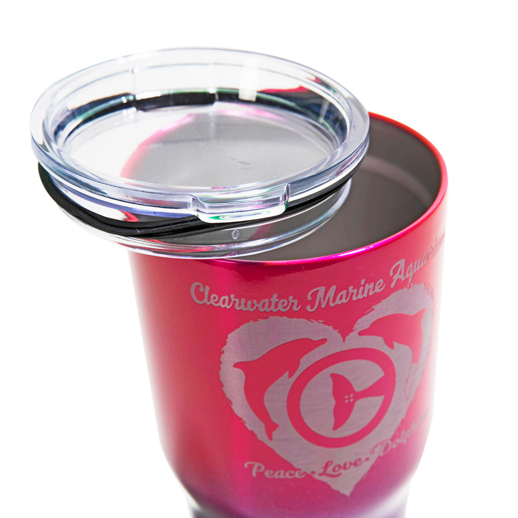 Clearwater Marine Aquarium Peace & Love Dolphin Insulated Tumbler