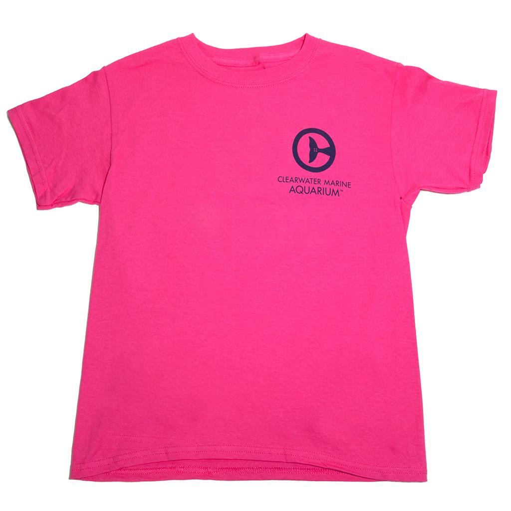 Clearwater Marine Aquarium Logo Youth Tee - Pink