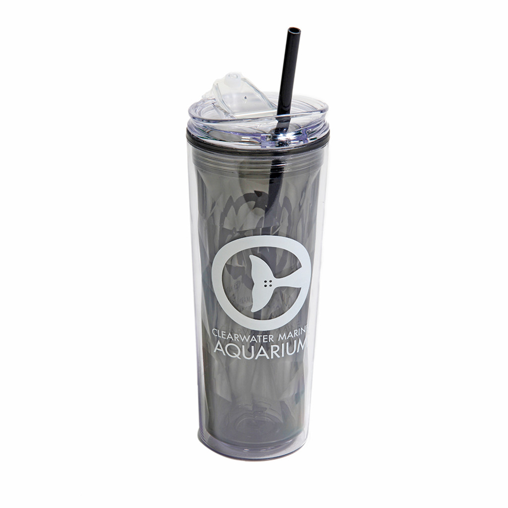 Clearwater Marine Aquarium Geometric Tumbler & Straw