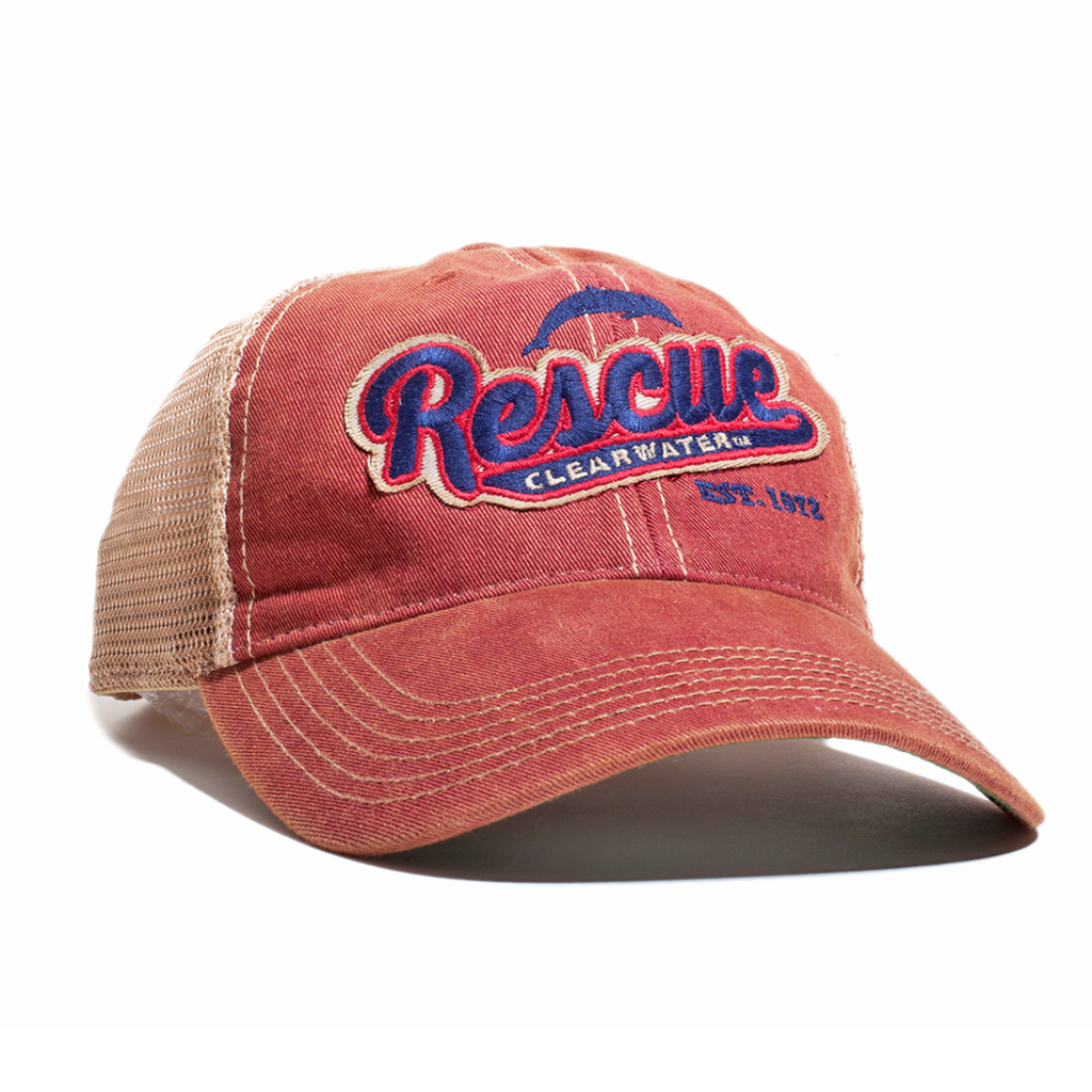 Rescue Clearwater Script Adjustable Trucker Hat