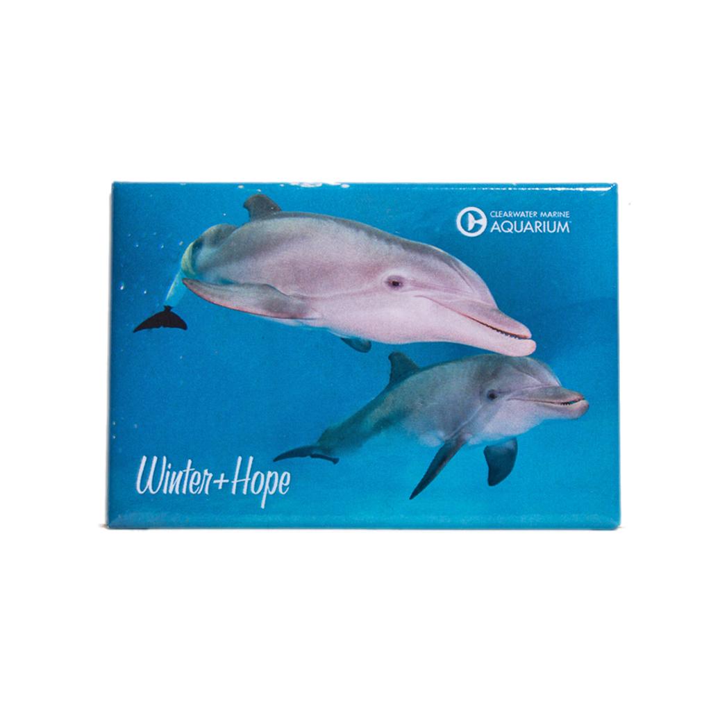 Winter & Hope Swimming Rectangle Magnet